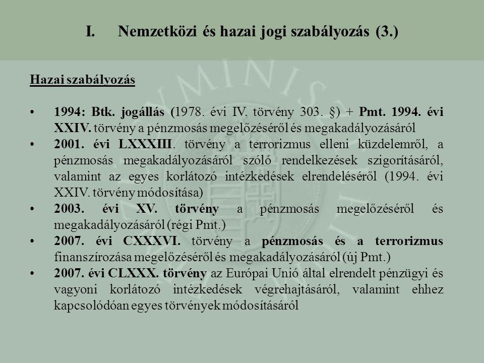 Nemzetközi és hazai jogi szabályozás (3.)