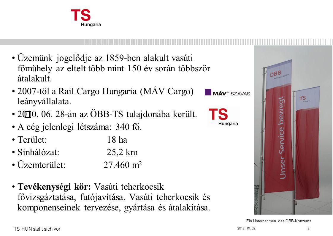 2007-től a Rail Cargo Hungaria (MÁV Cargo) leányvállalata.