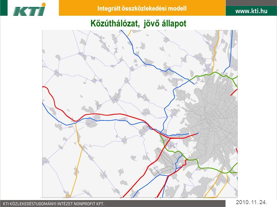 Közúthálózat, jelen állapot Közúthálózat, jövő állapot