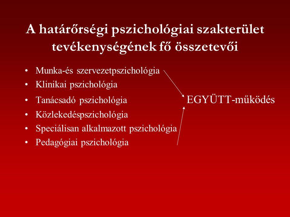 A határőrségi pszichológiai szakterület tevékenységének fő összetevői