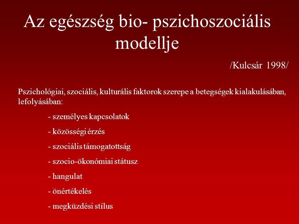 Az egészség bio- pszichoszociális modellje