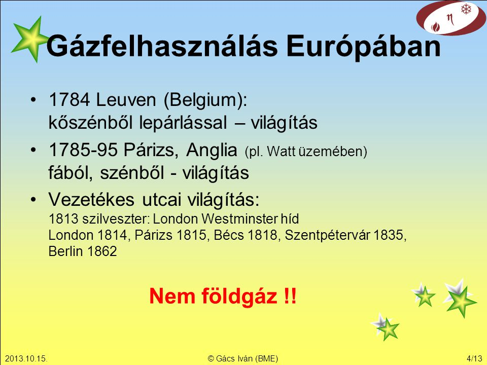 Gázfelhasználás Európában