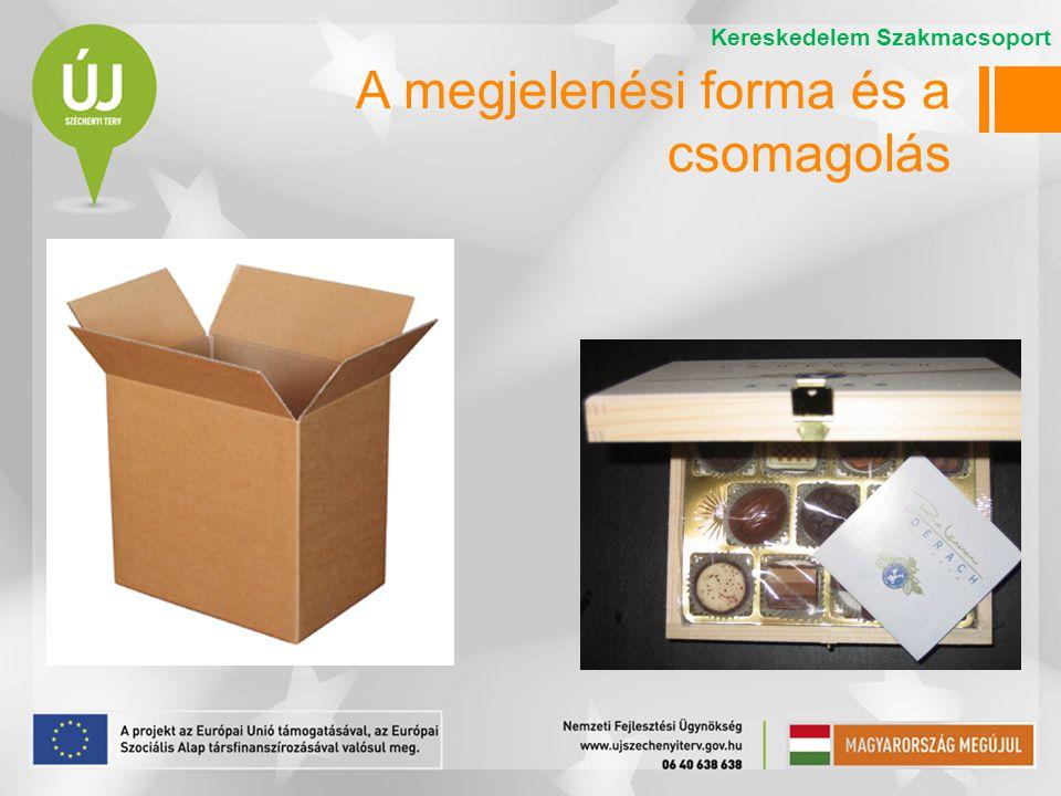 A megjelenési forma és a csomagolás