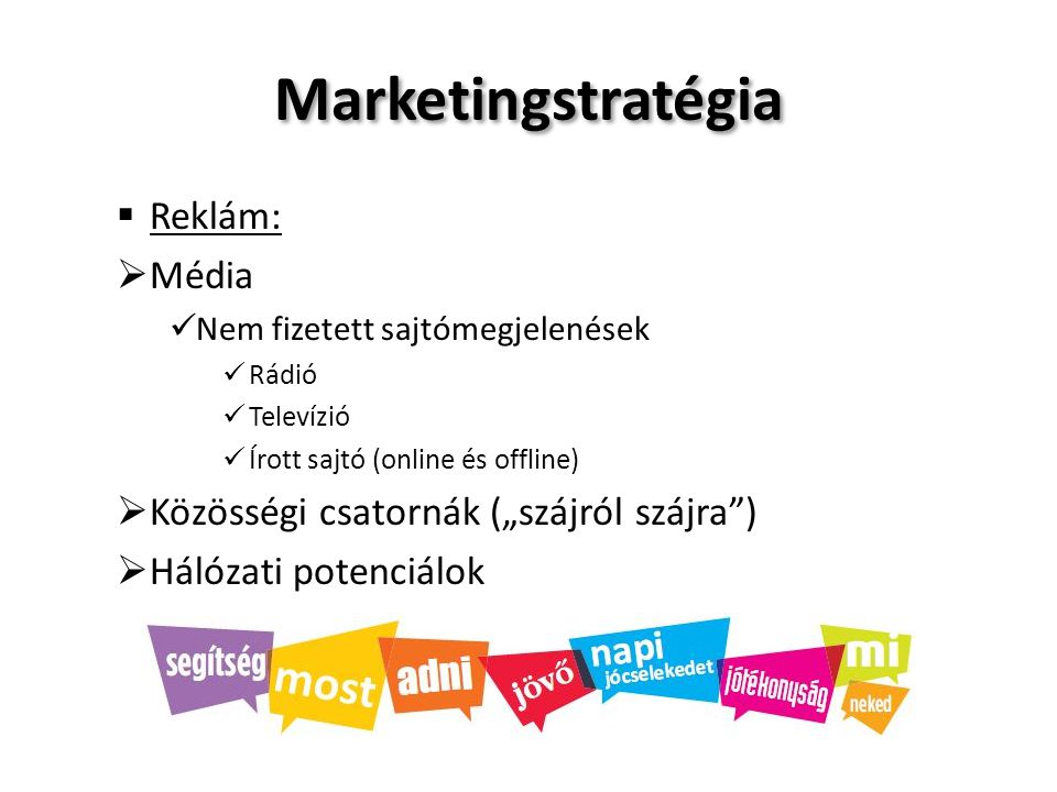 Marketingstratégia Reklám: Média