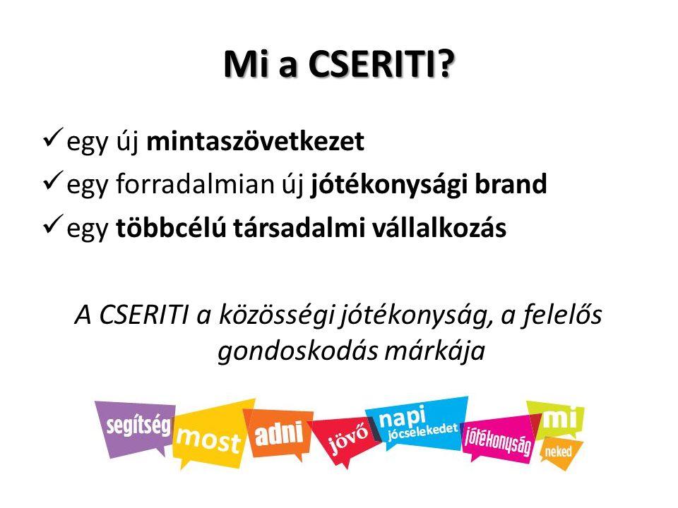 A CSERITI a közösségi jótékonyság, a felelős gondoskodás márkája