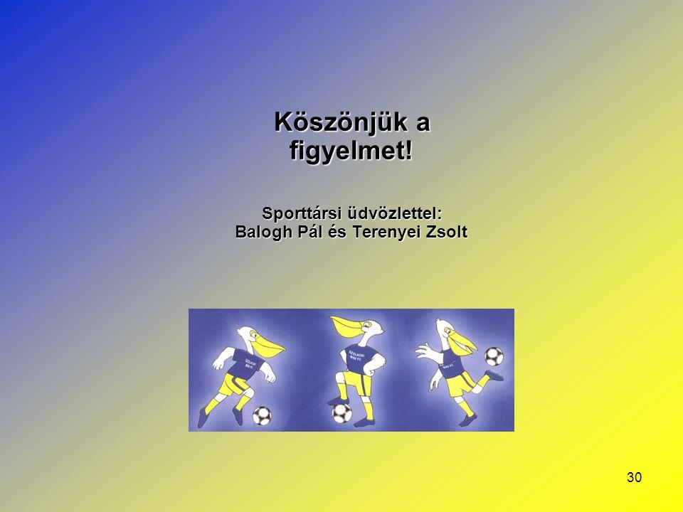 Sporttársi üdvözlettel: Balogh Pál és Terenyei Zsolt