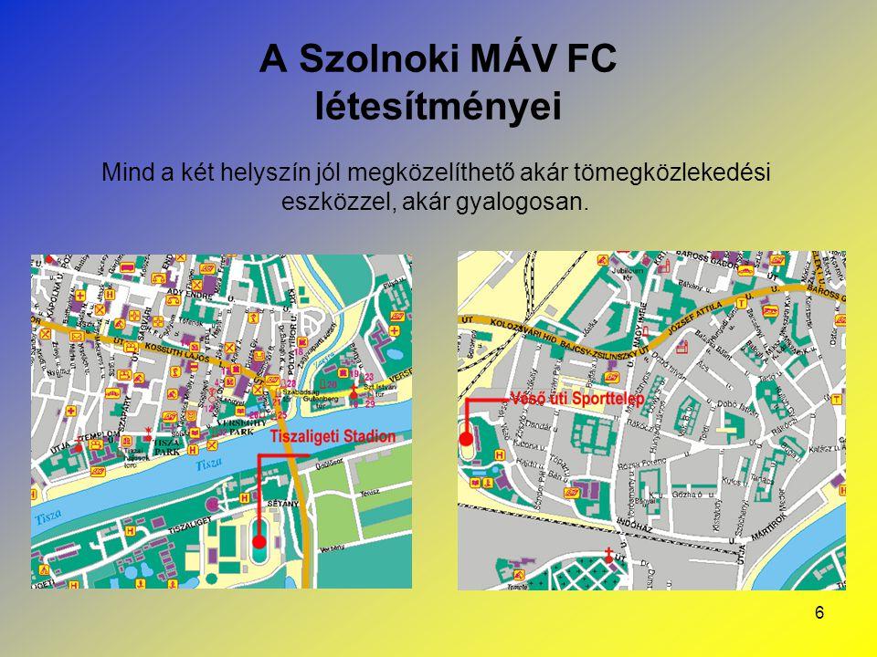 A Szolnoki MÁV FC létesítményei