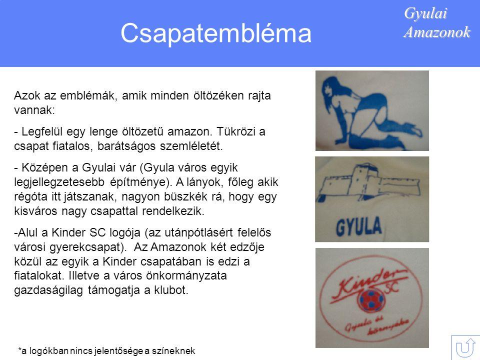 Csapatembléma Gyulai Amazonok
