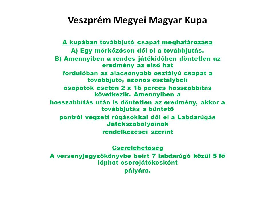 Veszprém Megyei Magyar Kupa
