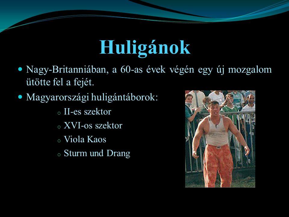 Huligánok Nagy-Britanniában, a 60-as évek végén egy új mozgalom ütötte fel a fejét. Magyarországi huligántáborok: