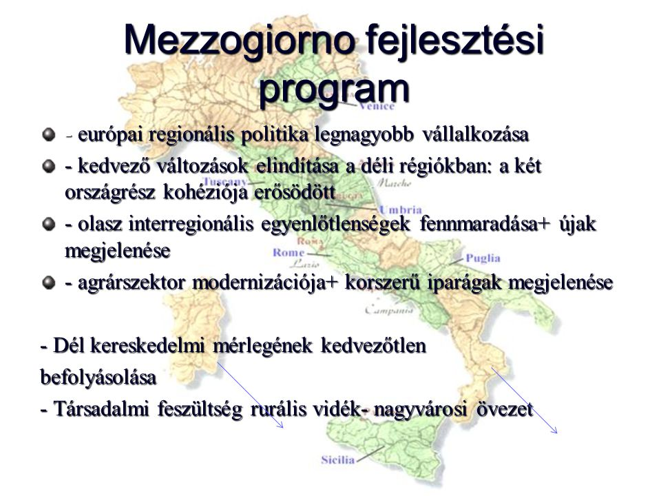 Mezzogiorno fejlesztési program