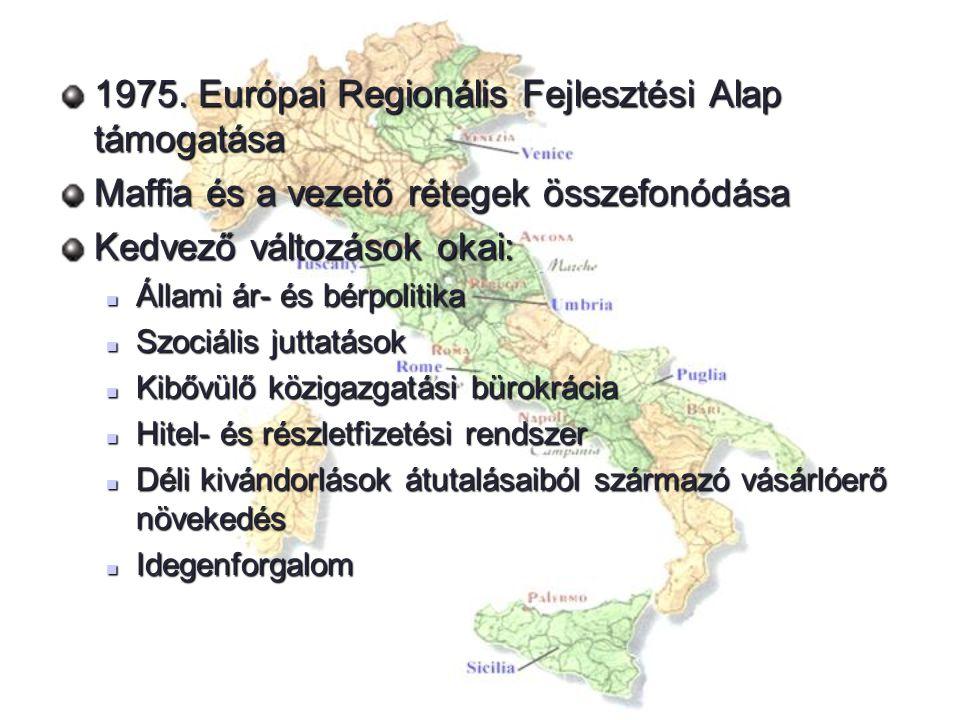 1975. Európai Regionális Fejlesztési Alap támogatása