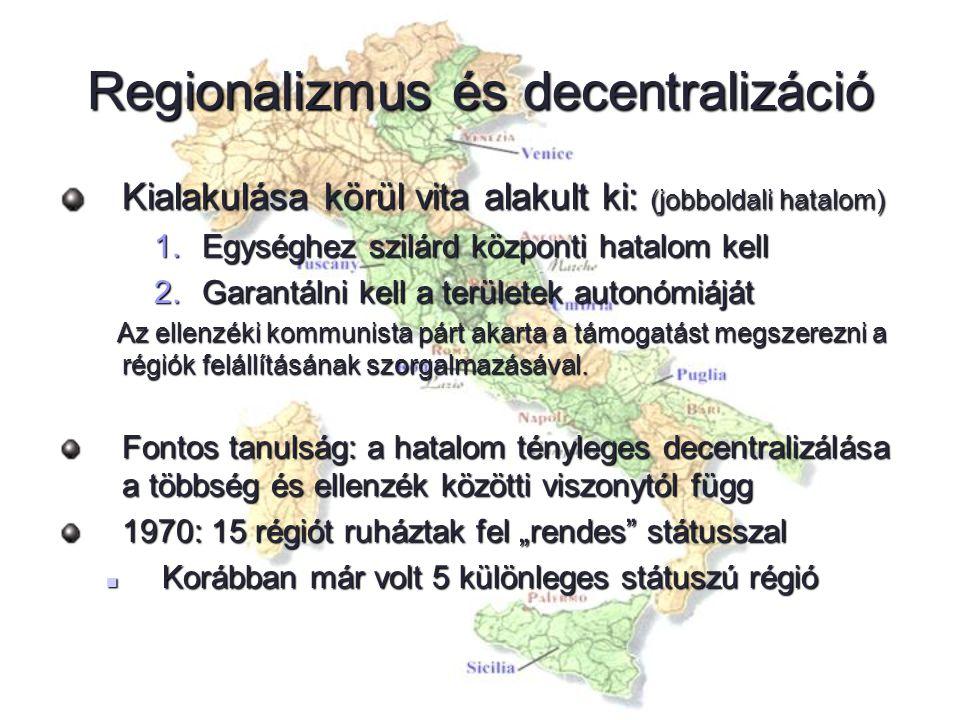 Regionalizmus és decentralizáció