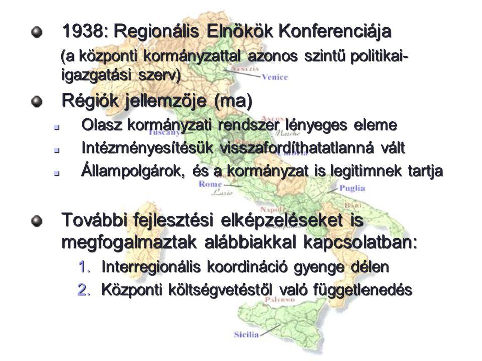 1938: Regionális Elnökök Konferenciája