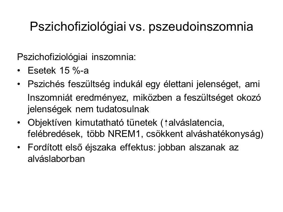 Pszichofiziológiai vs. pszeudoinszomnia