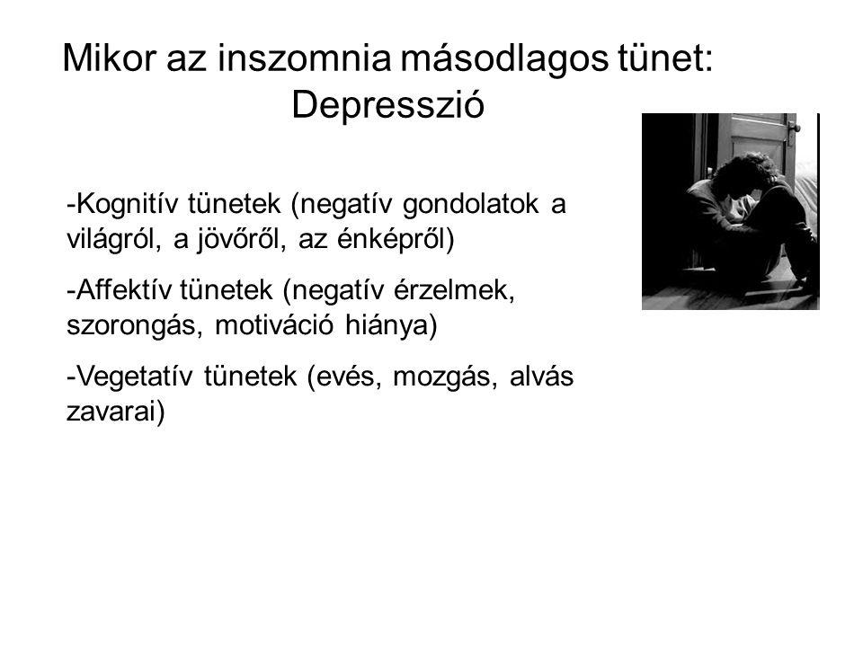 Mikor az inszomnia másodlagos tünet: Depresszió