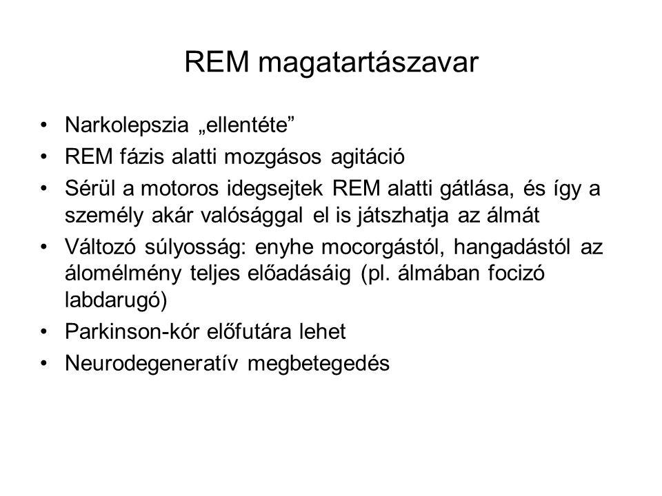 """REM magatartászavar Narkolepszia """"ellentéte"""