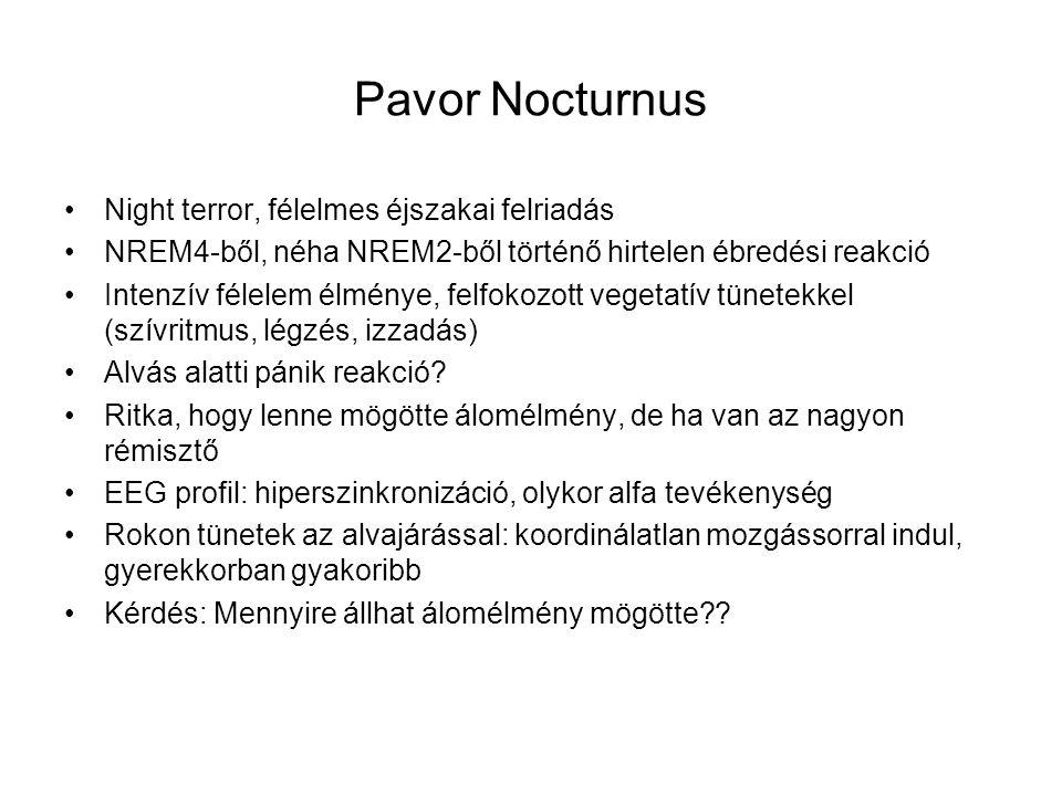 Pavor Nocturnus Night terror, félelmes éjszakai felriadás