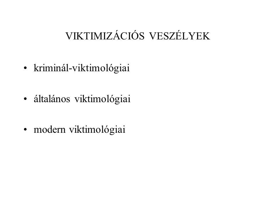 VIKTIMIZÁCIÓS VESZÉLYEK