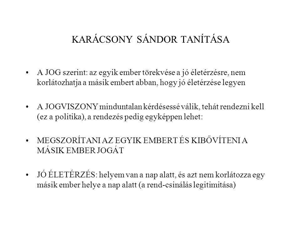 KARÁCSONY SÁNDOR TANÍTÁSA