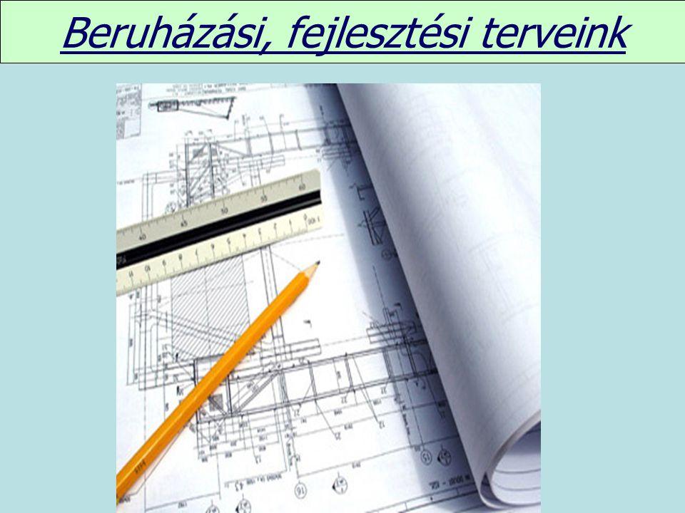 Beruházási, fejlesztési terveink