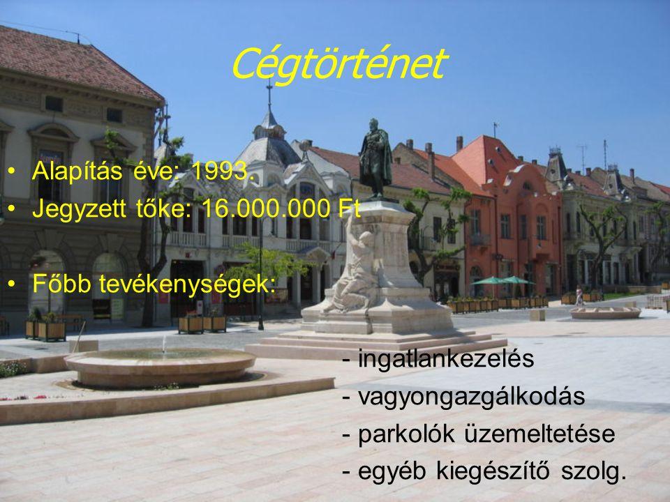 Cégtörténet Alapítás éve: 1993. Jegyzett tőke: 16.000.000 Ft