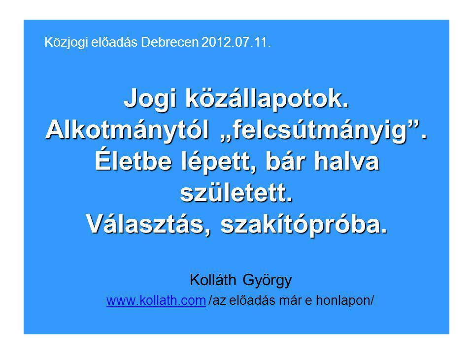 Kolláth György www.kollath.com /az előadás már e honlapon/