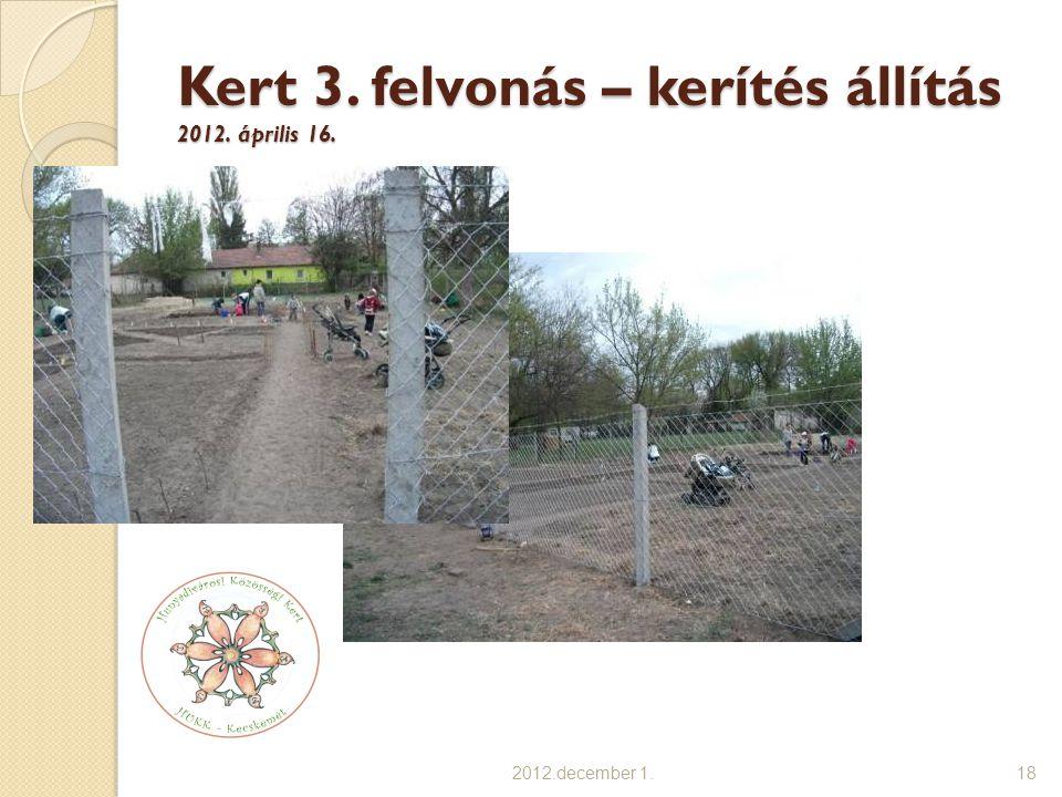 Kert 3. felvonás – kerítés állítás 2012. április 16.