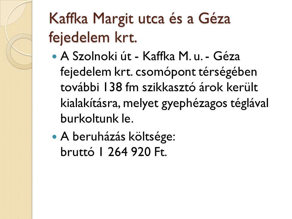 Kaffka Margit utca és a Géza fejedelem krt.