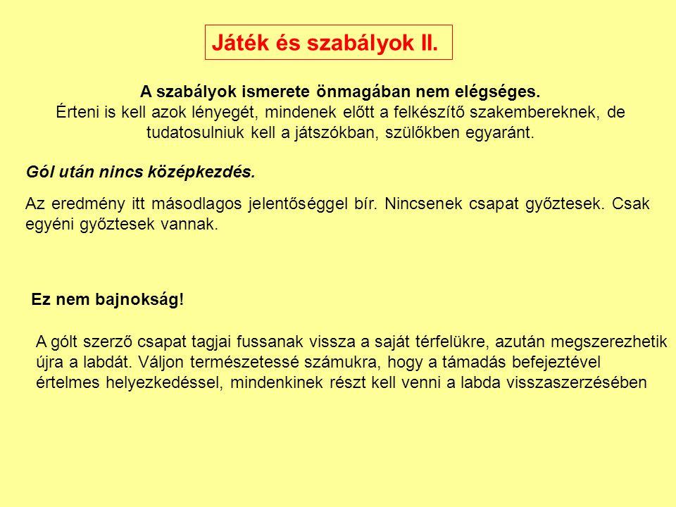 Játék és szabályok II.
