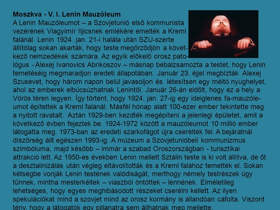 Moszkva - V. I. Lenin Mauzóleum