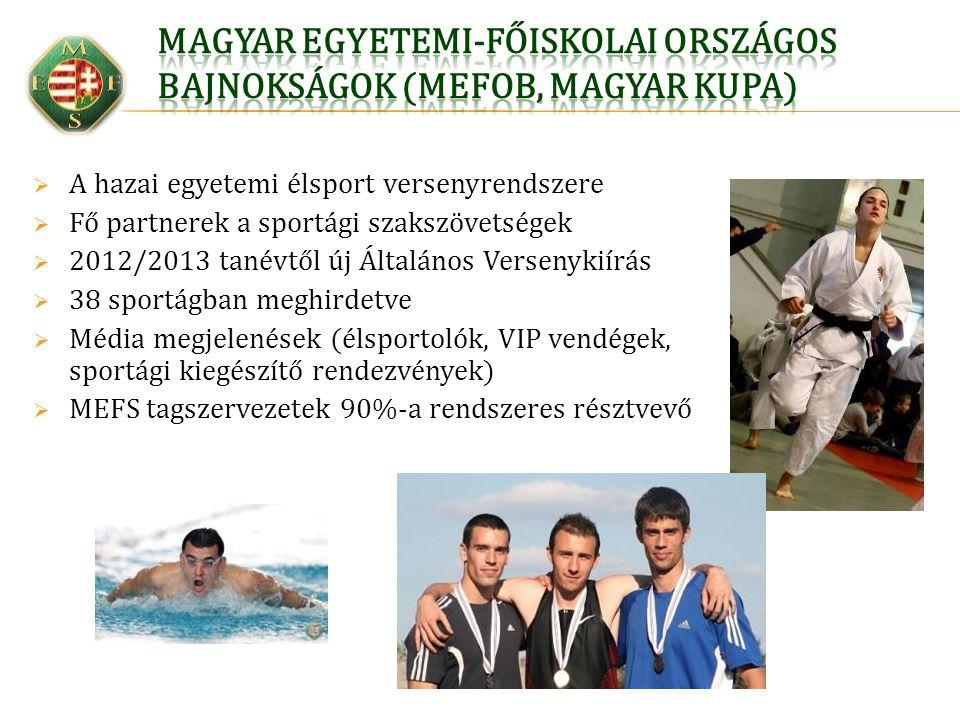 Magyar Egyetemi-Főiskolai Országos bajnokságok (MEFOB, Magyar Kupa)