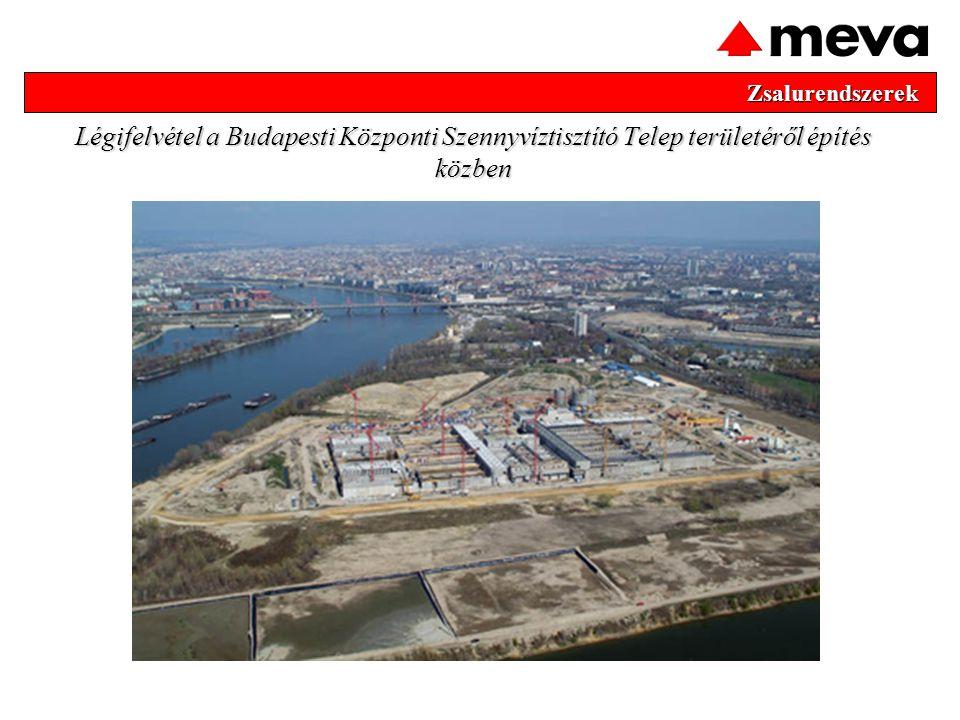 Zsalurendszerek Légifelvétel a Budapesti Központi Szennyvíztisztító Telep területéről építés közben