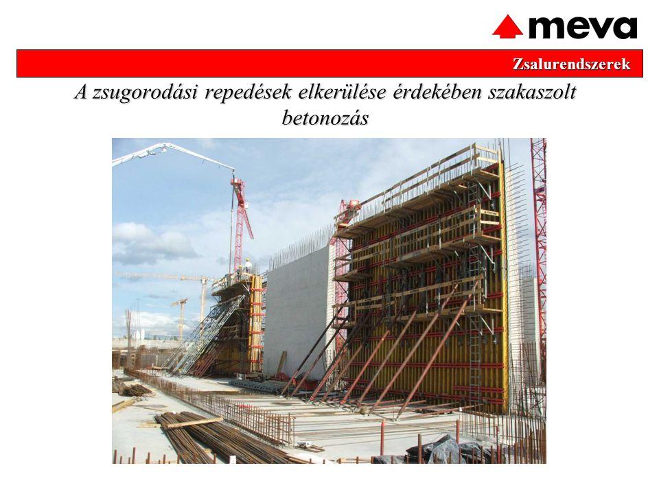 A zsugorodási repedések elkerülése érdekében szakaszolt betonozás