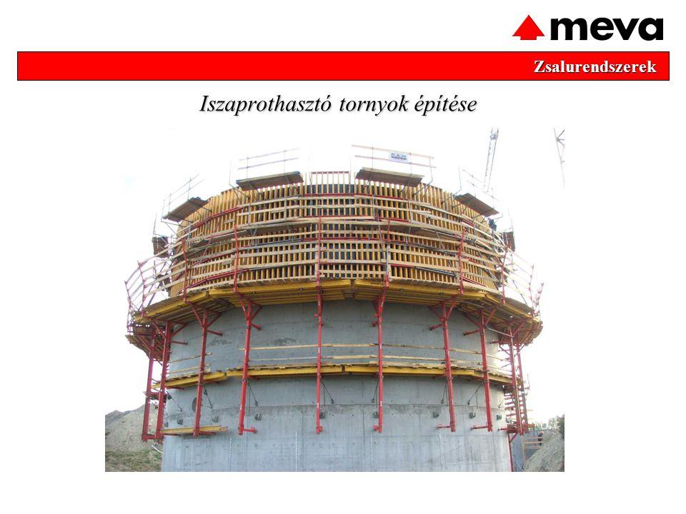 Iszaprothasztó tornyok építése