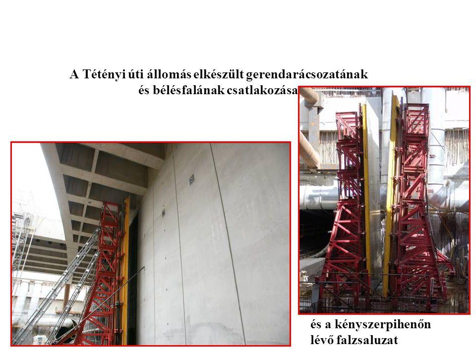 Zsalurendszerek Rt A Tétényi úti állomás elkészült gerendarácsozatának és bélésfalának csatlakozása.