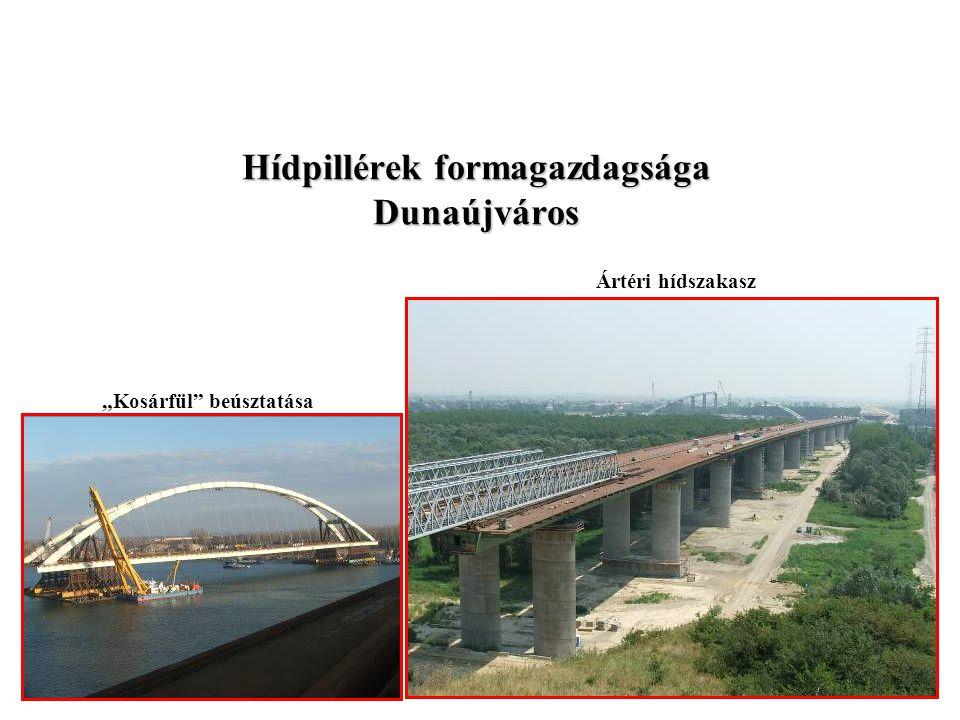 Hídpillérek formagazdagsága Dunaújváros