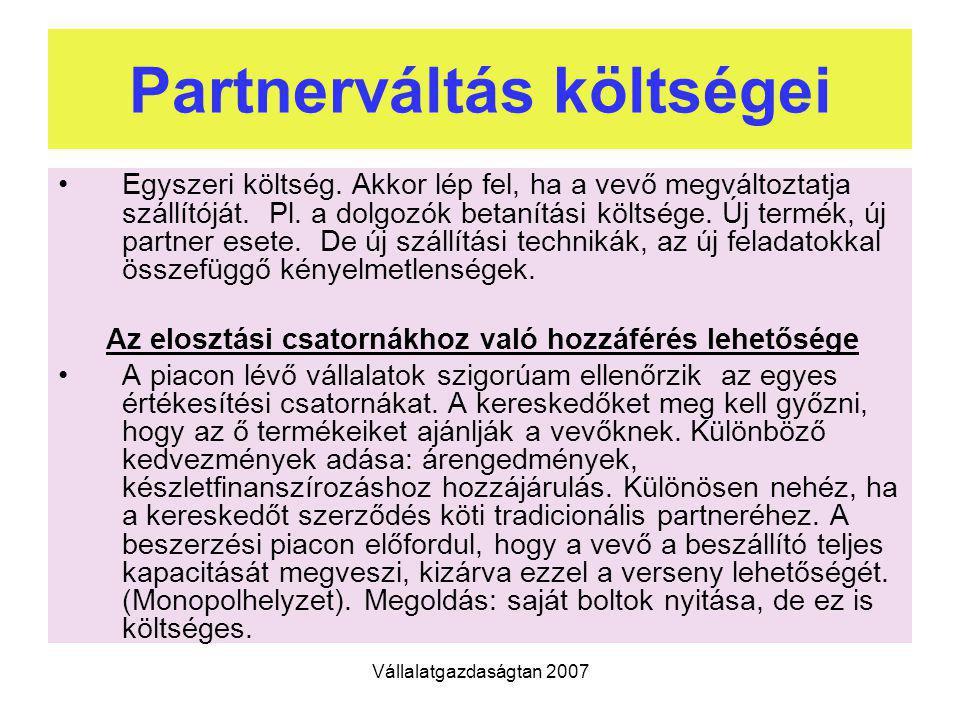 Partnerváltás költségei