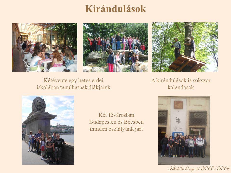 Kirándulások Iskolába hívogató 2013/2014