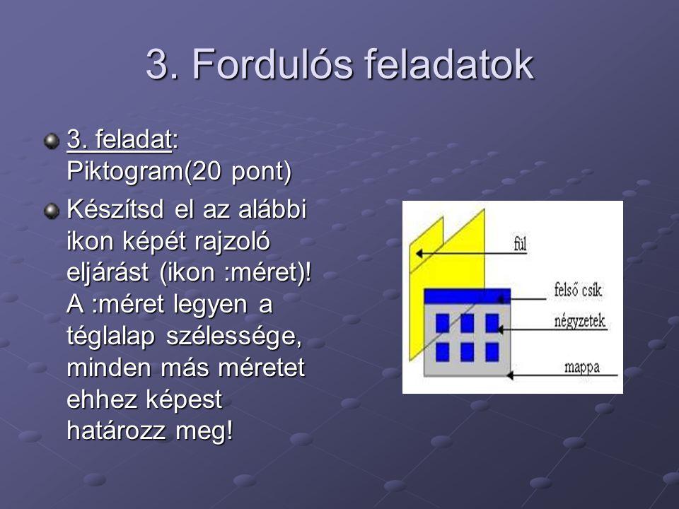 3. Fordulós feladatok 3. feladat: Piktogram(20 pont)