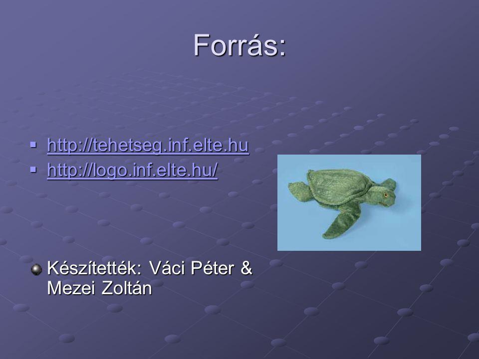 Forrás: http://tehetseg.inf.elte.hu http://logo.inf.elte.hu/