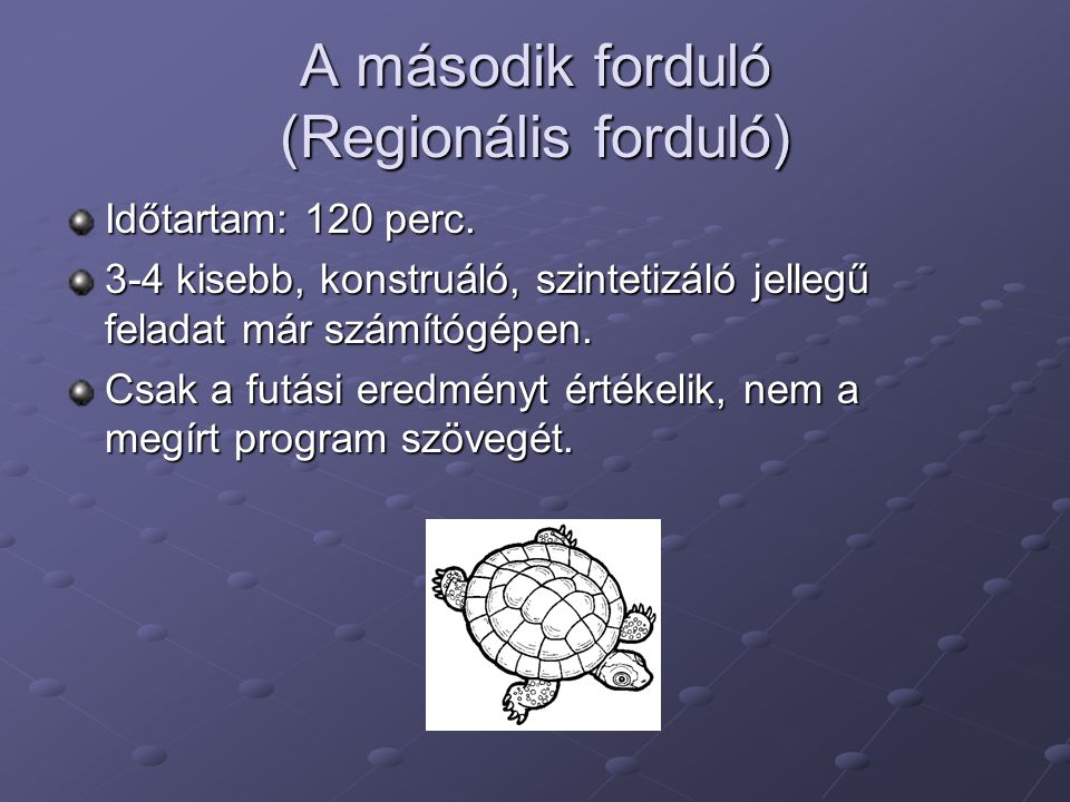A második forduló (Regionális forduló)