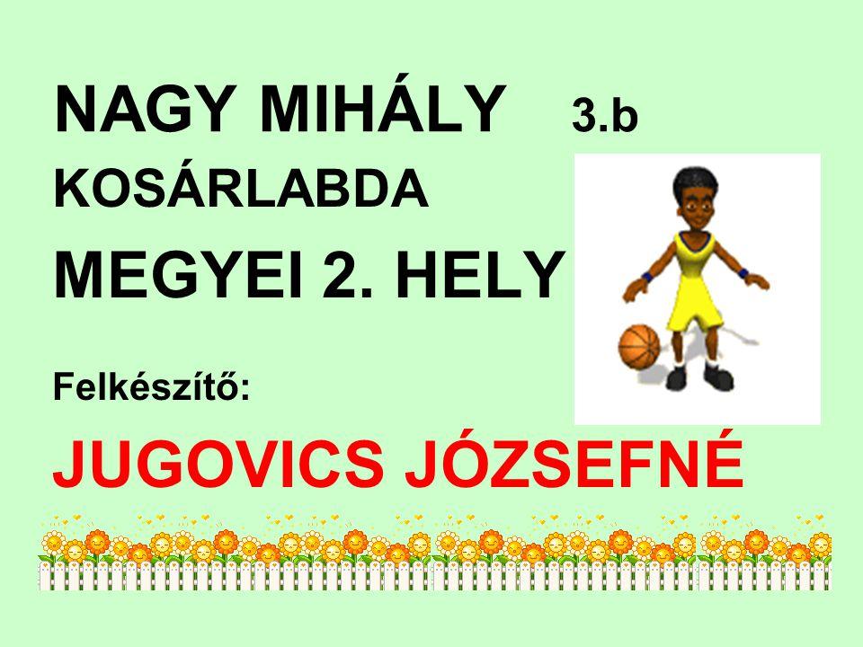 MEGYEI 2. HELY JUGOVICS JÓZSEFNÉ KOSÁRLABDA NAGY MIHÁLY 3.b