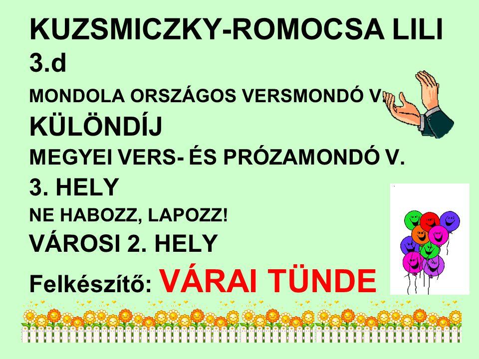 KUZSMICZKY-ROMOCSA LILI 3.d