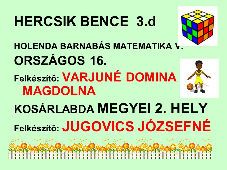 HERCSIK BENCE 3.d ORSZÁGOS 16. KOSÁRLABDA MEGYEI 2. HELY