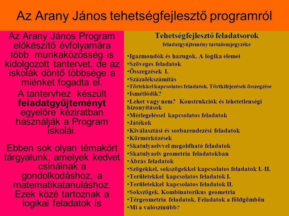 Az Arany János tehetségfejlesztő programról