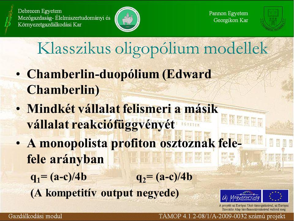 Klasszikus oligopólium modellek
