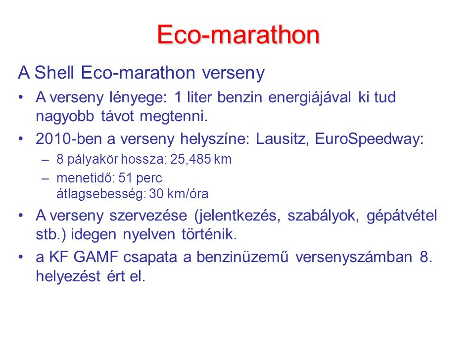 Eco-marathon A Shell Eco-marathon verseny