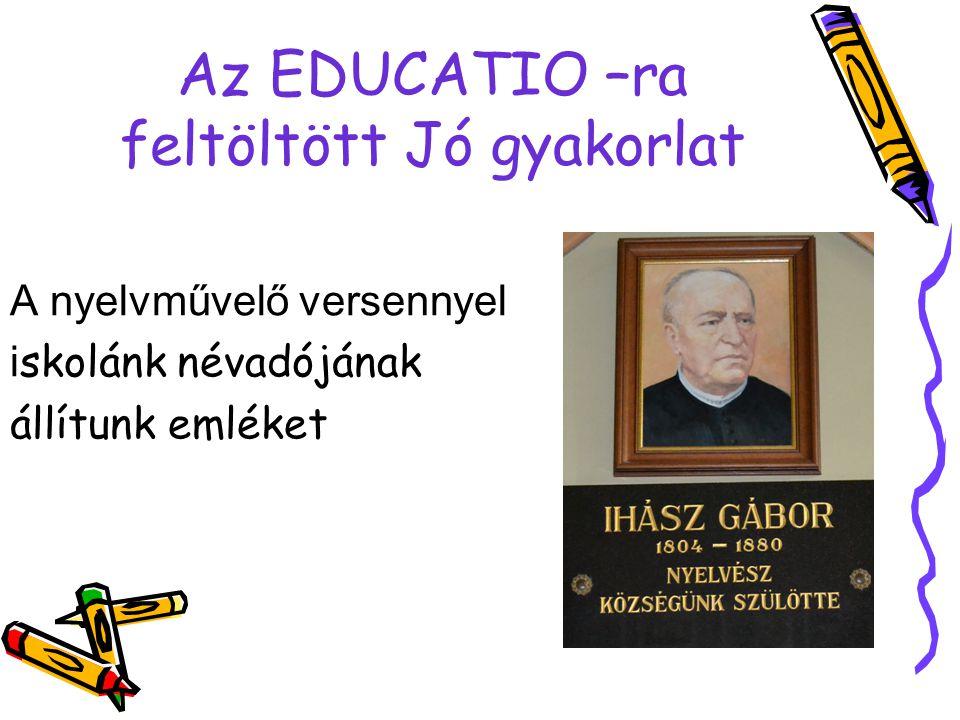 Az EDUCATIO –ra feltöltött Jó gyakorlat