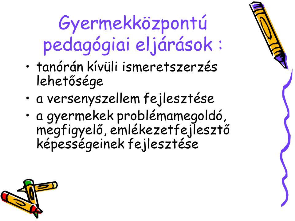 Gyermekközpontú pedagógiai eljárások :